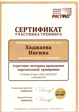 Нигина Ходжаева