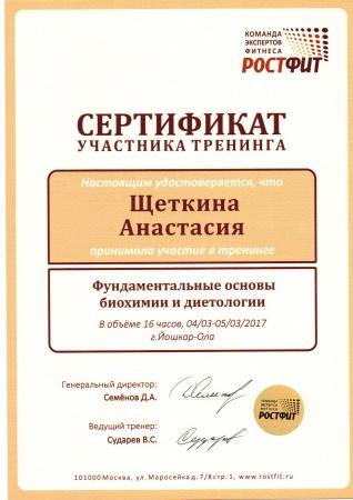 Анастасия Щеткина