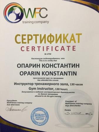 Константин Опарин